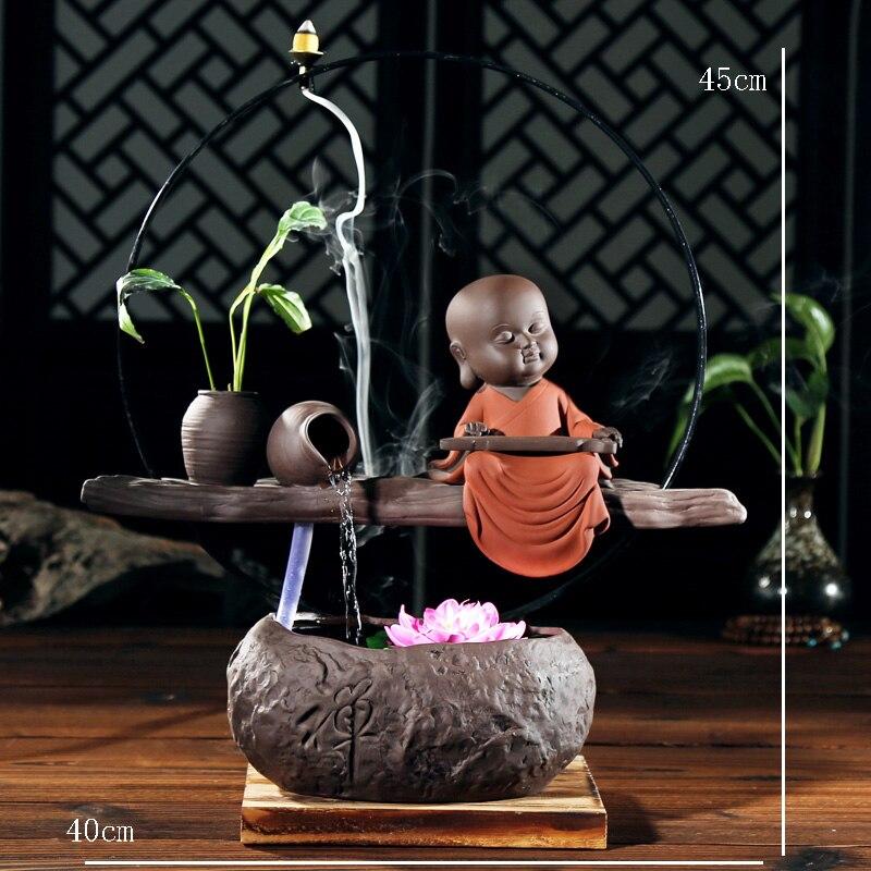110/220 В обратного Ладан горелки Керамика прекрасный монах дома Винтаж рыбы Майки фонтан офисные Книги по искусству украшения очистки air