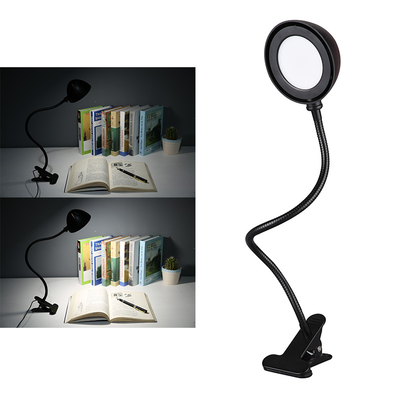 2 Level Dimmable LED Desk Lamp USB Table Lamp Study Light Clip on Flexible Lamp Reading Night Lighting Eye Care Light Book Lamp aifeng led desk lamp foldable dimmable 5w 370lm desk table light usb charging touch night light eye care book reading desk lamps