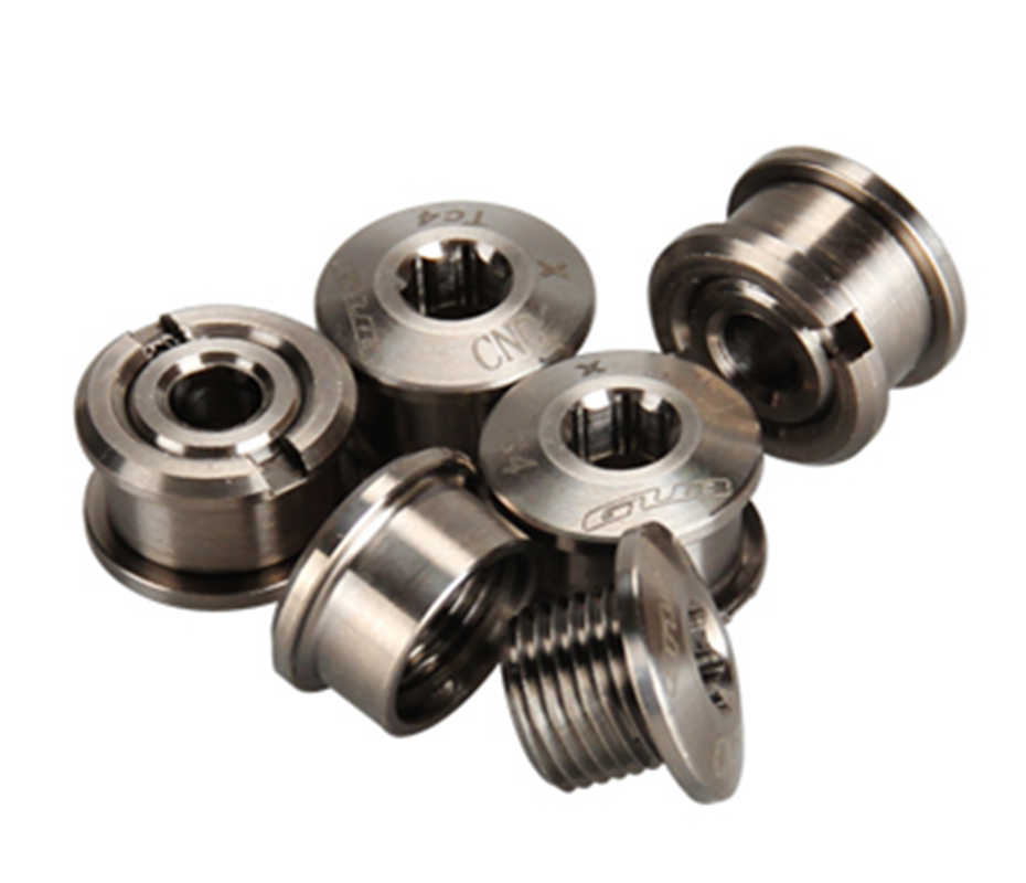Titanium Crankset Chainring Bolts Nuts M8 for Fixed Gear