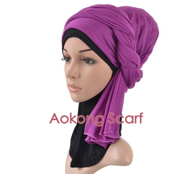 Один кусок хиджаб шарф Макси шали шарфы женские мусульманские хиджабы мусульманская леди палантин splid однотонное Джерси хиджаб 70x160 см
