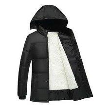 2016 Men's Winter Jacket Men Cotton Blend Coats Zipper Mens Jacket Casual Thick Outwear For Men Asia Size 4XL Clothing Male