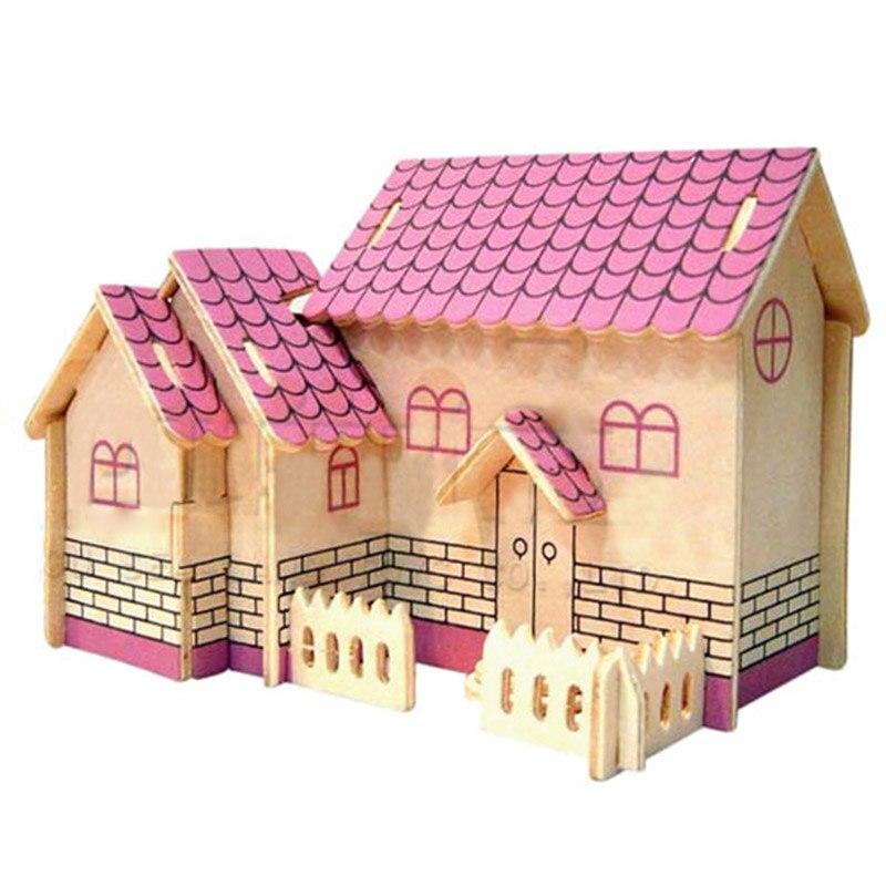 1 компл. DIY сборка замок Модель детей игрушки 3D головоломки Развивающие игрушки дети головоломки