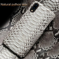 For Huawei p20 lite case coque Genuine Python Leather For huawei p20 lite cover silicone phone case for huawei p10 p30 lite case