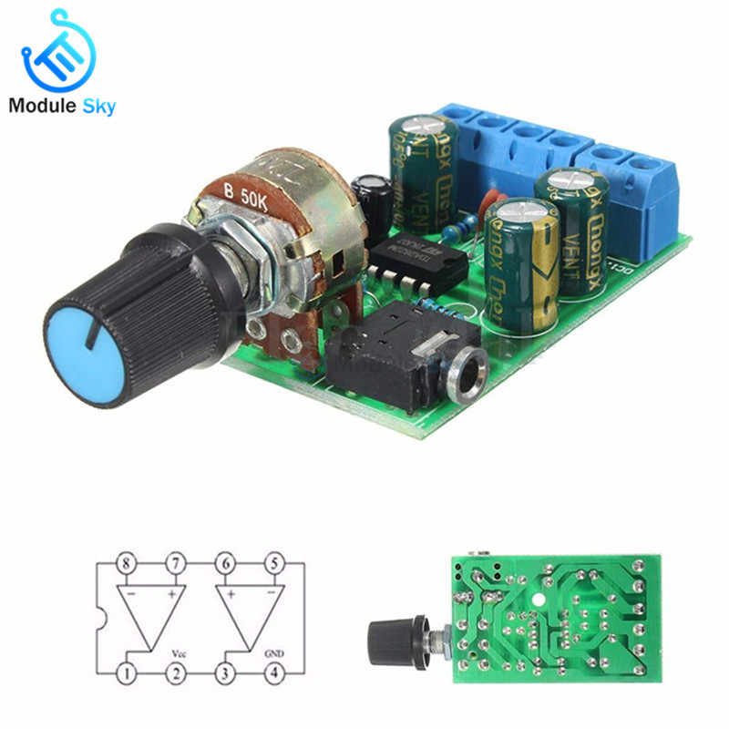 DC 1.8-12V TDA2822M 2.0 Stereo Audio Amplifier Board Dual Channel AMP AUX Amplifier Board Module For Arduino