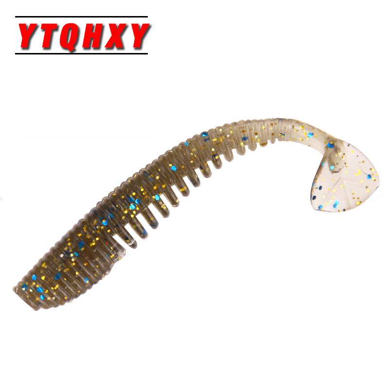 10pcs Minnow Fishing Lure Pesca Soft Baits Leurre souple Iscas Artificial 8cm/2.5g Shad Worm Carp Fishing Peche Soft Bait WQ179