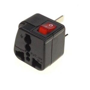 Image 5 - Ab abd İngiltere AU evrensel priz dönüştürücü seyahat adaptörü ile LED ana şalter dönüştürmek dünya tak siyah