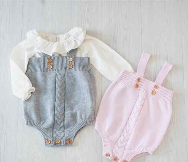 0a19555849dd6 baby girls jumpsuit clothes toddler newborn baby rompers knitted baby  Overalls Baby Rompers Princess Kids Clothes Rompers