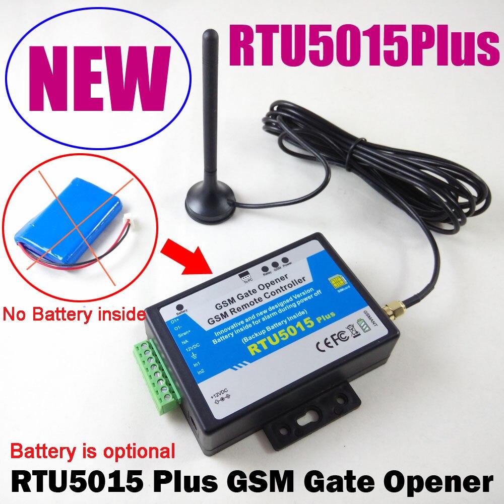 RTU5015Plus GSM ворот дистанционного доступа контроль за дверью гаража управление Лер обновлен батарея RTU5024 к RTU5015Plus с app