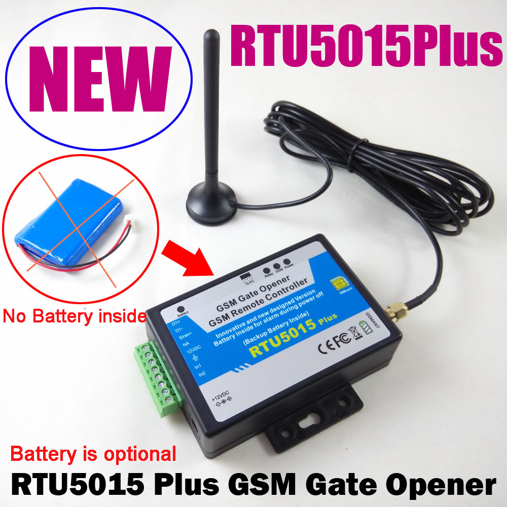 RTU5015Plus GSM Gate Opener Remote Access Control Garage Door Opener Controller Upgraded Battery RTU5024 to RTU5015Plus with app rtu5024 gsm gate opener relay switch remote access control wireless door opener by free call iphone and android app support