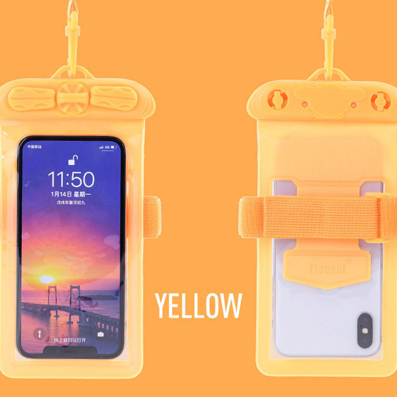 Mobile phone transparent touch screen waterproof bag for diving hot springs and other scenes in Phone Pouches from Cellphones Telecommunications
