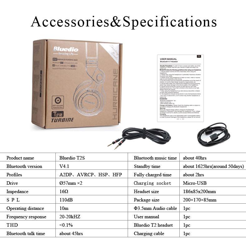 Headphone Bluetooth Bluedio fone Sem Fio
