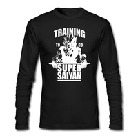 2016 New Autumn Men S GYM T Shirt Training To Go Super Saiyan Casual Camisatas Long