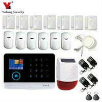 YobangSecurity English Dutch Voice WiFi 3G WCDMA Intruder Alarm System Android IOS App Smart Home Outdoor