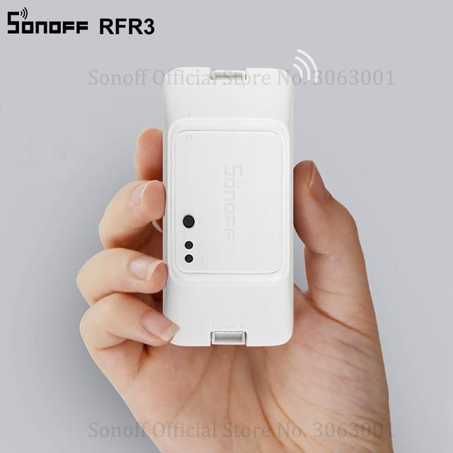 Nuevo SONOFF 433 RF R3 inteligente en/OFF WiFi interruptor el apoyo APP/433/RF/LAN/Control remoto por voz de modo trabaja con Alexa de Google