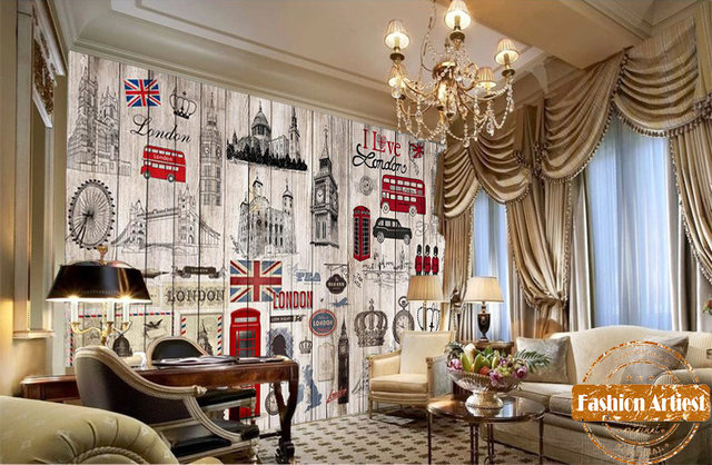 Online Shop Custom wallpaper mural vintage UK London impression bus