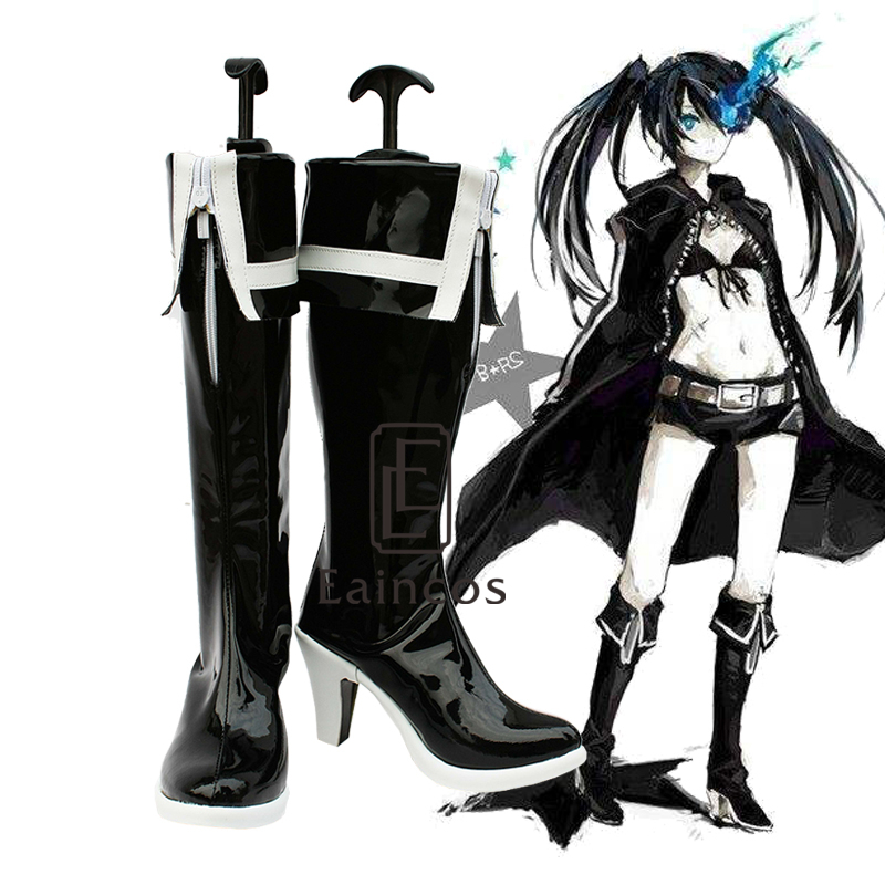 Vocaloid Miku Black Rock Shooter Cosplay Shoes Boots Any Size Free Shipping