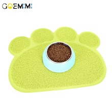 1pc 4 Colors Cute Paw Shape Pet Dog Cat Puppy PVC Foot Mat For Dogs Cats Place mat Supplies Little Mats