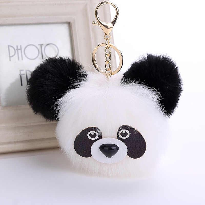Novas Mulheres Populares Adorável Panda Chaveiros Saco Charme Acessórios Pingente de Pele de Qualidade Superior Quente Dos Homens O Melhor presente Do Partido Jóias K2065