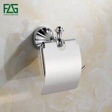 FLG Toilet Accessories Zinc Alloy Paper Holder Chrome Finish