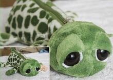 Plush toy cute 1pc 25cm creative big eye green turtle tortoise bag pencil case stuffed toy children gift
