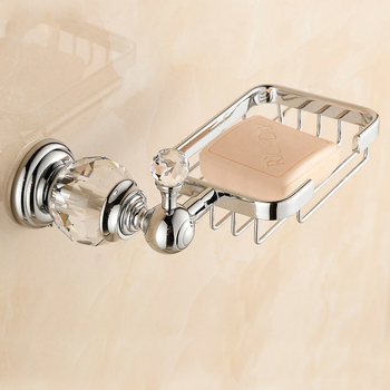 Soap Dishes Crystal Home Decoration Wall Mounted Soap Basket Bathroom Accessories Soap Holder Brass Material Washing Helper 635 free shipping solid brass orb oil rubbed bronze bath form bathroom holder soap dishes wall mounted holder rack