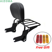 Motorcycles Rear Passenger Backrest Sissy Bar with Detachable Luggage Rack For Harley Street Glide Road King Electra Glide 97 08
