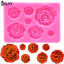 BXLYY2018 Hot Sale Rose Silicone Mold Candy Mummy DIY Wedding Decoration Gift Baking Tools Halloween Party Christmas Supplies.7Z