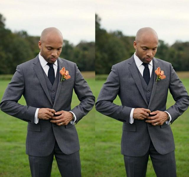 Custom Made three piece Men Suits Tuxedos Grooms Suits Wedding Suits ...