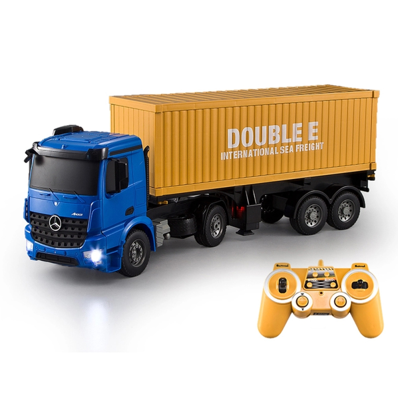 The best gifts rc toys RC Truck Model Super Speed E564 High Speed big remote control Container Truck toy Simulated lights toys