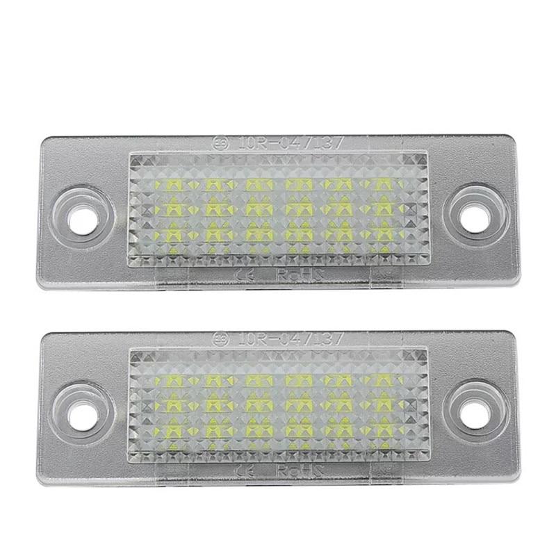 2pcs Car LED License Number Plate Lights Lamp For Transporter T5 Multivan Caravelle Eurovan Passat Caddy Touran Golf