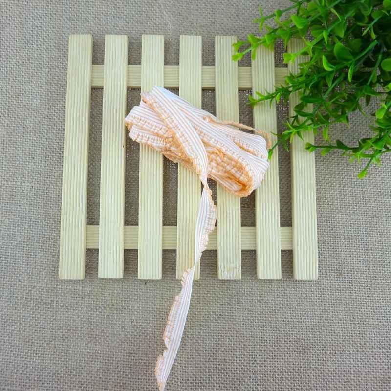 #457 Beyaz + Turuncu Elastik Bant 26 renk 4 metre/lot Dantel Trim 10-20 MM Geniş streç Dantel Şerit Riband Bant saç bandı DIY Dikiş
