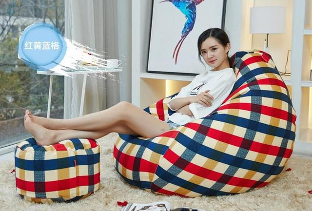 Cover Only No Filler Stool Smany Styles Europe Bean Bag Sofa Living
