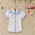 Muchachos del verano nuevas camisas de algodón con Resistente de La Camiseta, costuras de color camisa de la edición de han de algodón camisa FMA3002