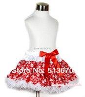 Weihnachten Winter Rot Weiß Schneeflocke Blume FULL Pettiskirt Rock-partei-tanz-ballettröckchen Tutu Rock Mädchen 1-8Y P169