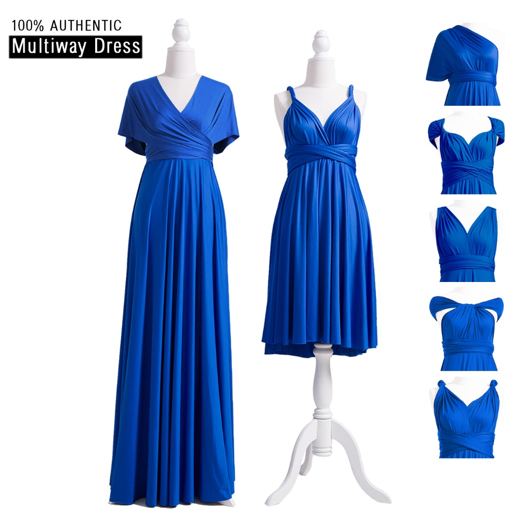 Royal Blue   Bridesmaid     Dress   Infinity   Dress   Multiway Long   Dress   Convertible Wrap Plus   Dress   With One Shoulder Straps Styles