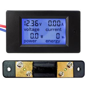 New DC 6.5-100V 0-50A LCD Display Digital Current Voltage Power Energy Meter Multimeter Ammeter Voltmeter with 50A Current Shunt(China)
