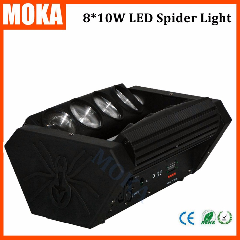 DJ Disco stage 8*10w spider led moving head light RGBW Bar indoor show special effect equipemnt