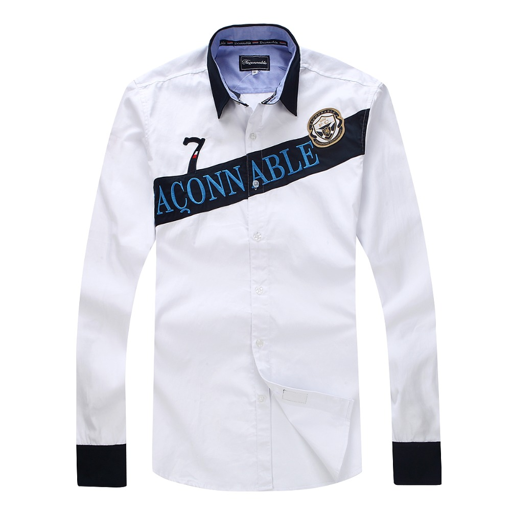 Buy new arrive 2017 faconnable full for Nice shirts for men
