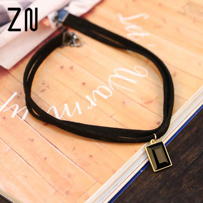 New Fashion Multilayer Imitation Leather Choker Necklace Gothic Chain Charm
