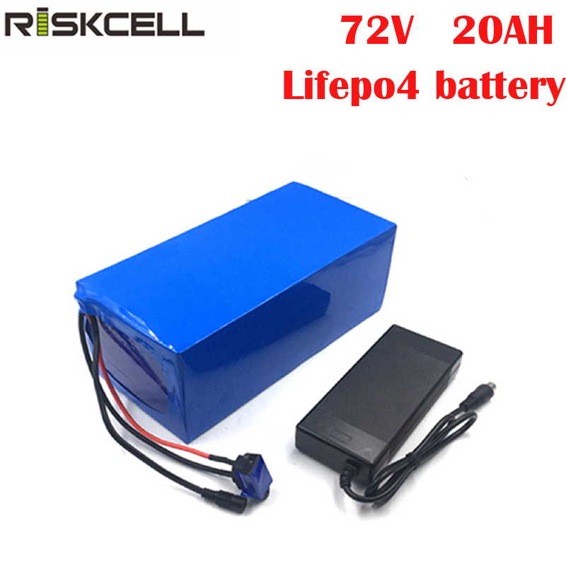 Customized LiFePO4 72v 20ah lithium battery pack with BMS for ev car electric car golf car 72v rechargeable battery+4A Charger image