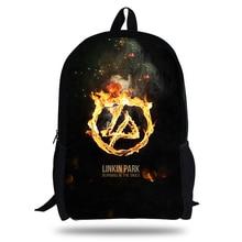 KOLLEGG The Hunter Linkin Park Print Backpacks for young men wowen Teenage Large Capacity Satchel Laptop Bag Dropshipping