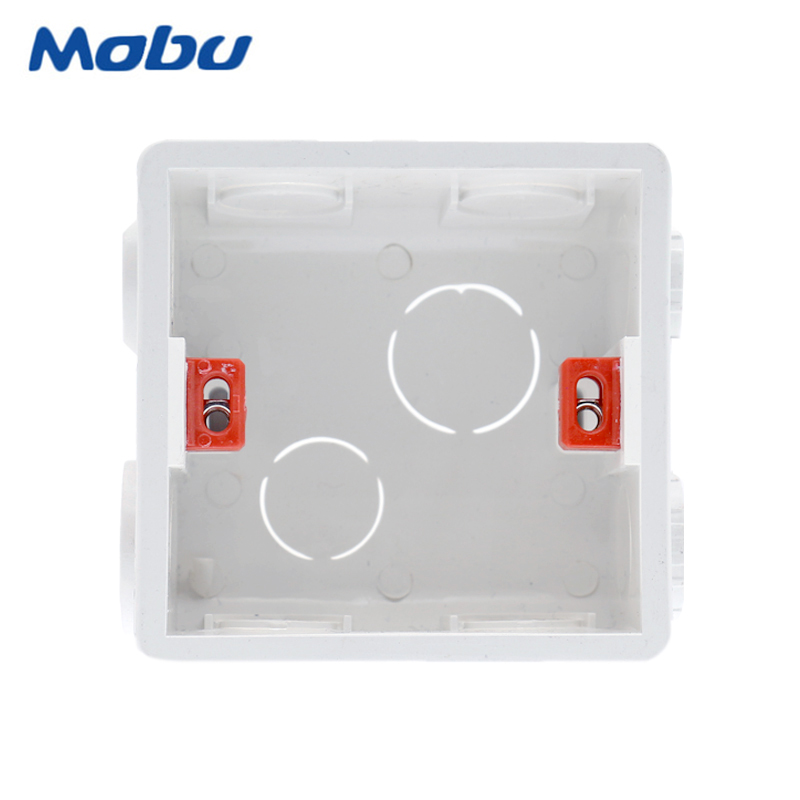 Mobu Adjustable Mounting Box Internal Cassette 86mm*83mm*50mm For 86 Type Switch And Socket White / Red Color Wiring Back Box