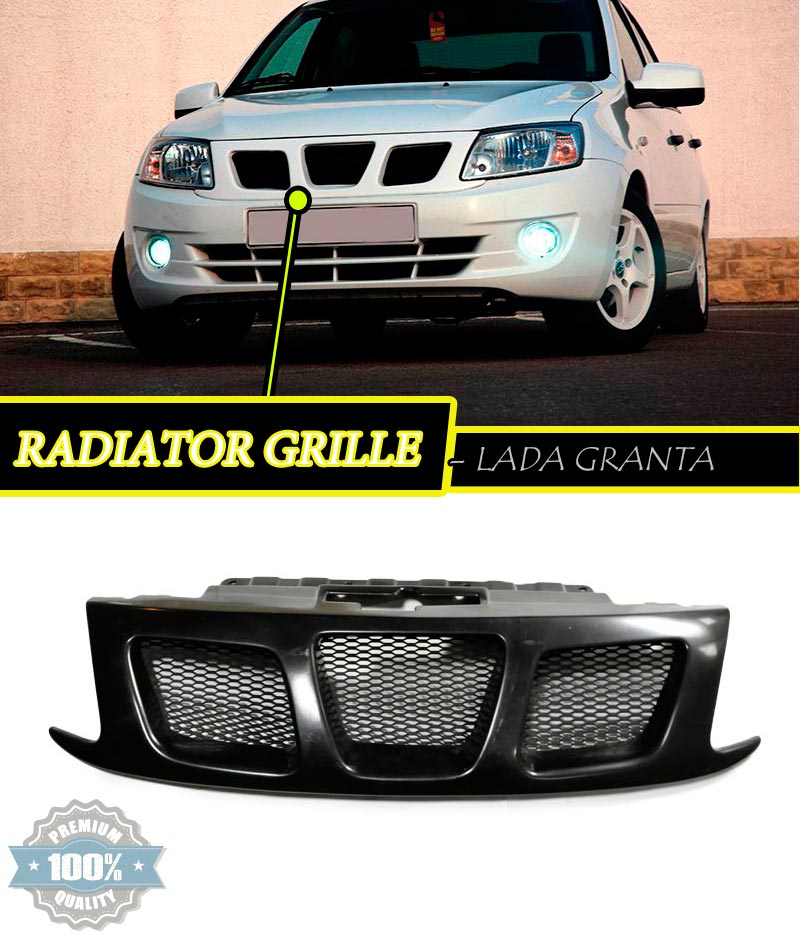 Radiator grille for lada granta 2012 plastic abs car for Automobile decoration accessories