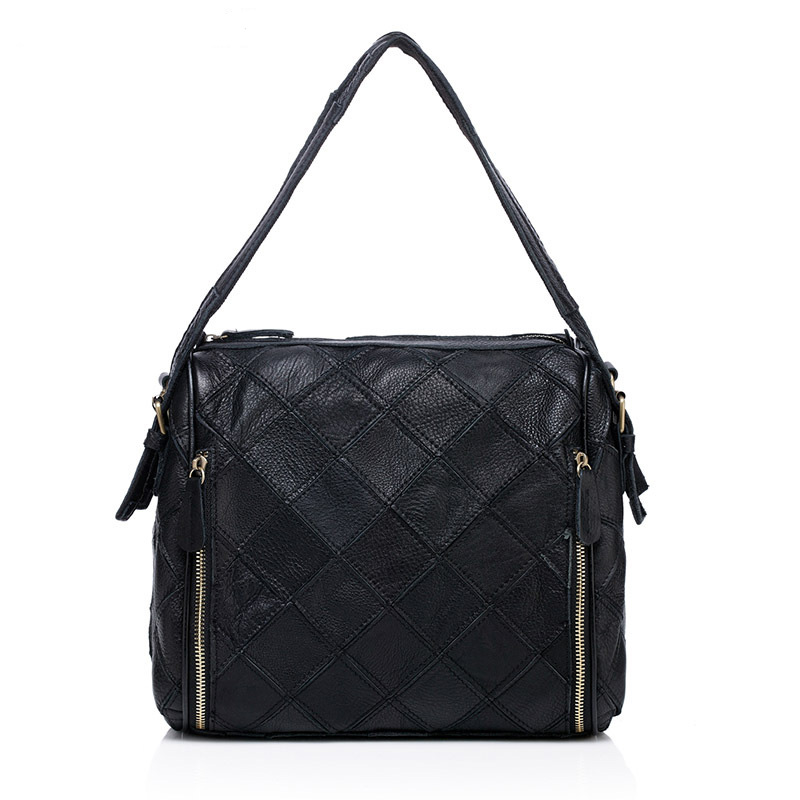 New Fashion Woman Shoulder Bags Women High Quality Handbags Genuine Leather Shoulder Cross Lingge Package new national embroidery bags high quality women fashion shoulder