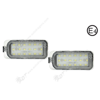 2Pair Car LED License Plate Lights Auto Number Lamp For Ford Fiesta JA8 08 S MAX