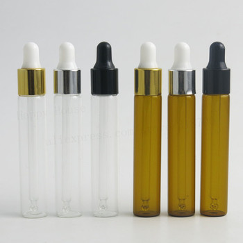 цена 30 x 10ml New Arrival Refillable Clear Amber Glass Essential Oil Dropper Vials 1/3oz Rubber Pipette Bottles Liquid Containers онлайн в 2017 году