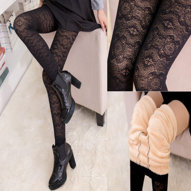 Free Shipping plus cashmere velvet leggings Fashion thick Stretch leggins Pants women's Leggings Warm Elastic Tights winter