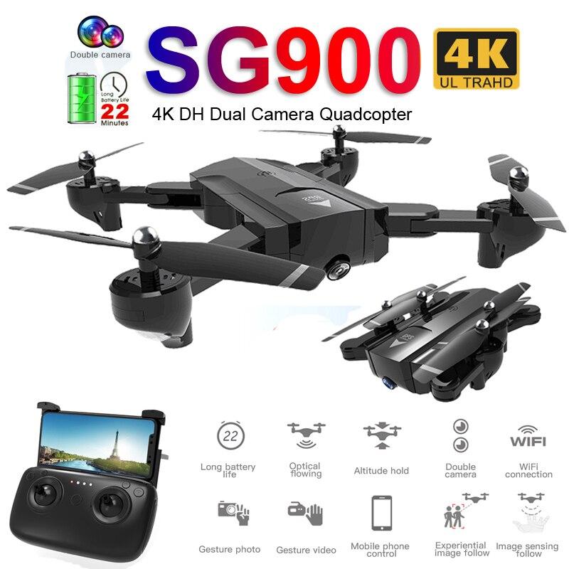 SG900 Profissional WiFi طائرة بدون طيار FPV 720 P 4 K HD كاميرا مزدوجة البصرية تدفق الفيديو الجوي أجهزة الاستقبال عن بعد الطائرات Quadrocopter لعب X192-في طائرات هليوكوبترتعمل بالتحكم عن بعد من الألعاب والهوايات على  مجموعة 1