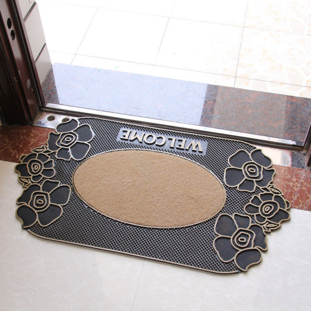 New Arrival Welcome Doormat Size 45x75cm Polypropylene Semi-circle PVC Outdoor Carpet Kitchen Mat Bath Rugs Mats Home Decorate