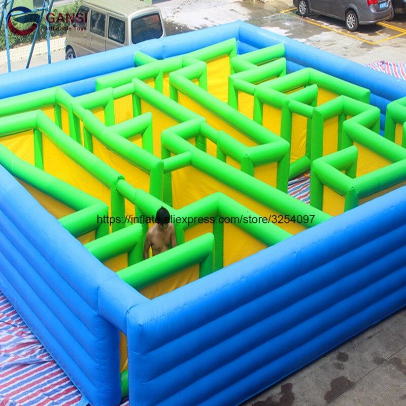 Jeu de sport oxford tissu gonflable course à obstacles gonflable laser labyrinthe avec différentes pièces pour enfants